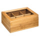 box the x6 bamboo compartments, colorless
