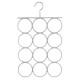 metal percha pvc bufandas gr, gris claro