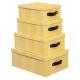 wafelbox x4 geel, geel