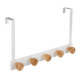 patere bamboo 5 heads white, white