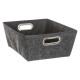 felted bezel basket m gf, dark gray
