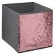 caja de almacenamiento 31x31 lentejuelas gris, gri
