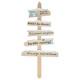 fa dekoráció 5pcslots hó 110cm