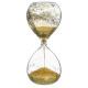 dekorációs üveg homokóra csillogás 20cm arany