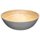 gray bamboo salad bowl 30cm