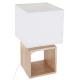 H32 lámpara de madera cuadrada, beige
