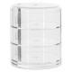 box 3 compartimenten draaibaar, transparant