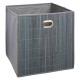 gray bamboo storage basket, brown