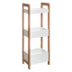 shelves 3 levels bamboo / mdf