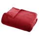 plaid de franela roja lisa 130x180, rojo