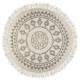 tapis ronde etnik d120, noir & blanc