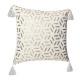 cushion cover geom gold bl 40x40, white