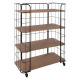 etagere metal 4 etages jordi, marron