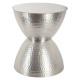 metal table hanae ar, silver