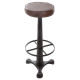 bar stool retro chic leather, brown