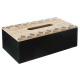 caja de pañuelos etnik, negro