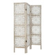 Etnik wood screen, white