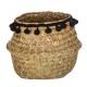 basket seagr plate black pompom pm, black