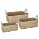 basket seagr plate rectangle natural x3, beige