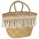 shopping basket wicker summer, beige