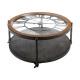 coffee table clock chrono metal, black