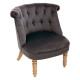 fauteuil velvet grijze pad gm, grijs