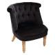 fauteuil velvet zwarte pad gm, zwart