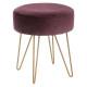 metal velvet stool plum, plum
