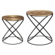 table cafe metal etnik cuiv x2, cuivre