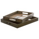 Colonial x2 glass tray, 2- times assorted , multic