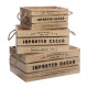 colonial crate crate x3, beige