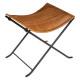 stool brown leather Vintage , medium beige