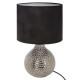 lampe ceramique martele goutte h38, noir