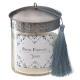 świeca zapachowa szklana metalowa zima 280g, 2-kro