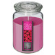 scented candle vr rasp 510g, pink
