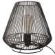 black metal wire lamp h26, black