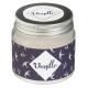 vanilla glass scented candle 65g, dark blue