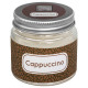 candle scented glass cappucino 65g, light gray