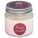 geurkaars eeuwig roze glas 65g, grijze clai