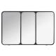 miroir metal atelier 45x70, noir
