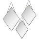 miroir losang metal chaine x3 nr, noir