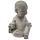 Sitting Buddha Child, 3- times assorted , Light Gr