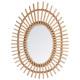 espejo ovalado de ratán, beige medio