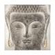 58x58x3,5 Boeddhistisch tinnen canvas, veelkleurig