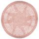 tapis crochet d.90 rose, rose