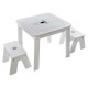 table bac + 2 stools boy, multicolored