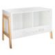 armario de almacenamiento x2, blanco
