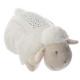 nightlight projo stuffed sheep, white