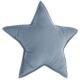 Pillow star blue gray, dark blue