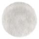 white round fur rug, white